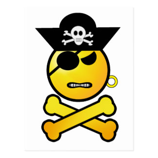ARRGH! Smiley - GRR  Emoticon Pirate Postcard
