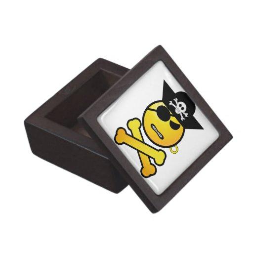 ARRGH! Smiley - GRR  Emoticon Pirate Premium Keepsake Boxes
