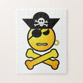 ARRGH Smiley - GRR Emoticon Pirate Jigsaw Puzzle