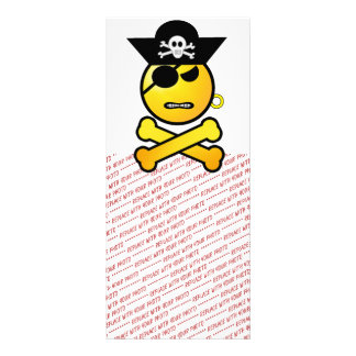 ARRGH! Smiley - GRR  Emoticon Pirate Personalized Rack Card