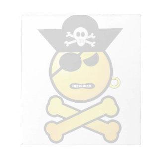 ¡ARRGH! Smiley - pirata del Emoticon de GRR Libretas Para Notas