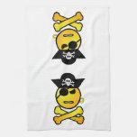 ¡ARRGH! Smiley - pirata del Emoticon de GRR Toalla De Cocina