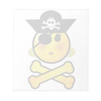 ¡ARRGH! Smiley - pirata del Emoticon del chica Libretas Para Notas