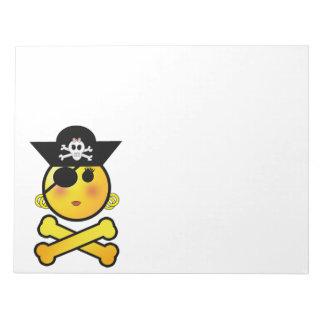 ¡ARRGH! Smiley - pirata del Emoticon del chica Blocs De Notas