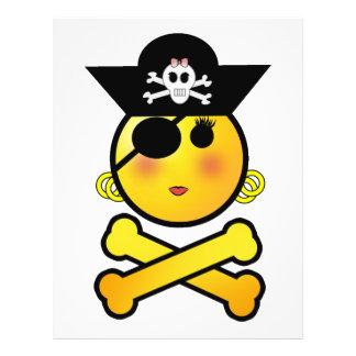 ¡ARRGH Smiley - pirata del Emoticon del chica Tarjetas Publicitarias