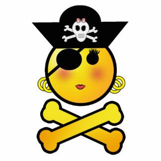 ¡ARRGH! Smiley - pirata del Emoticon del chica Fotoescultura Vertical