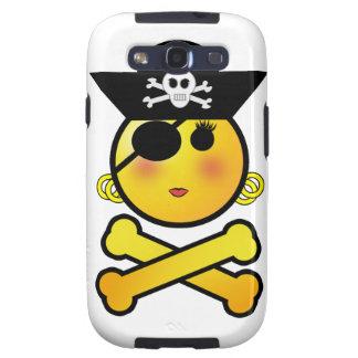 ¡ARRGH! Smiley - pirata del Emoticon del chica Galaxy SIII Cobertura
