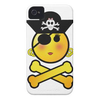 ¡ARRGH! Smiley - pirata del Emoticon del chica Funda Para iPhone 4