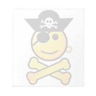 ¡ARRGH! Smiley - pirata sonriente del Emoticon Libreta Para Notas