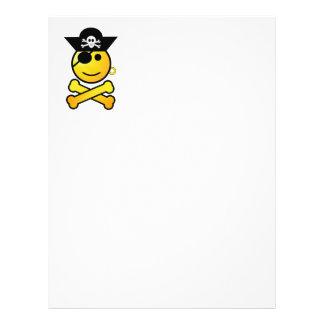 ¡ARRGH Smiley - pirata sonriente del Emoticon Flyer A Todo Color