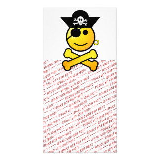 ¡ARRGH! Smiley - pirata sonriente del Emoticon Tarjeta Con Foto Personalizada