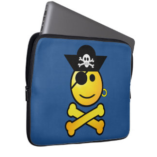 ARRGH! Smiley - Smiling Emoticon Pirate Laptop Computer Sleeves