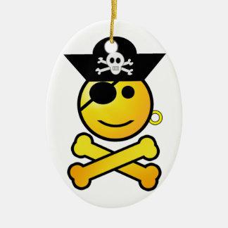ARRGH! Smiley - Smiling Emoticon Pirate Ornament