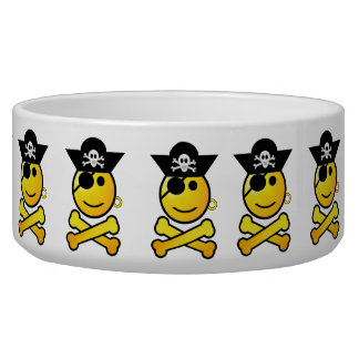 ARRGH! Smiley - Smiling Emoticon Pirate Pet Bowl