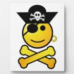 ARRGH! Smiley - Smiling Emoticon Pirate Photo Plaque