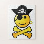 ARRGH! Smiley - Smiling Emoticon Pirate Jigsaw Puzzle