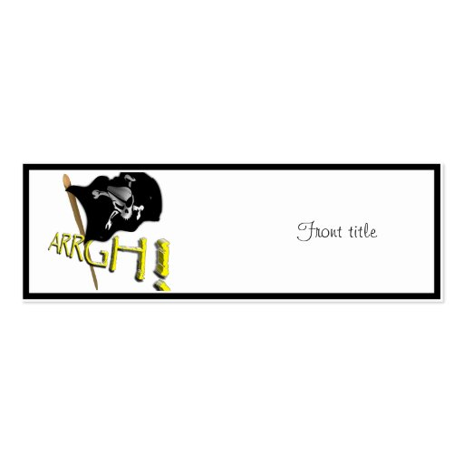 ARRGH! Waving Jolly Roger Pirate Flag Business Cards