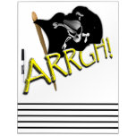 ARRGH! Waving Jolly Roger Pirate Flag Dry Erase Board