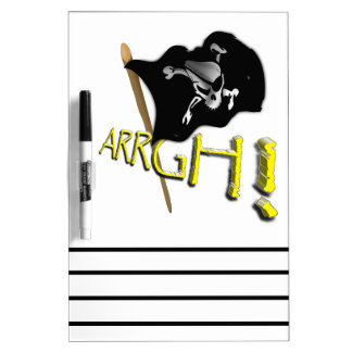 ARRGH! Waving Jolly Roger Pirate Flag Dry-Erase Board