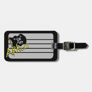ARRGH! Waving Jolly Roger Pirate Flag Luggage Tag