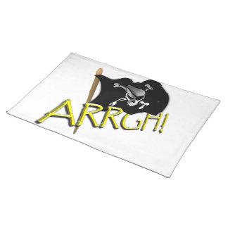 ARRGH Waving Jolly Roger Pirate Flag Place Mat