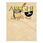 ARRGH! With Pirate Treasure, Parrot & Eye Patch Custom Flyer
