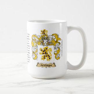 Arriaga, el origen, el significado y el escudo taza de café
