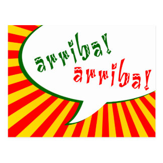 arriba! arriba! : comic speech bubble postcard