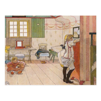 Arriba dormitorio del ático con la hermana del postal