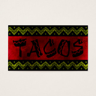 arriba taco stand (loyalty punch card) business card
