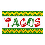 arriba tacos (loyalty punch card) business card template