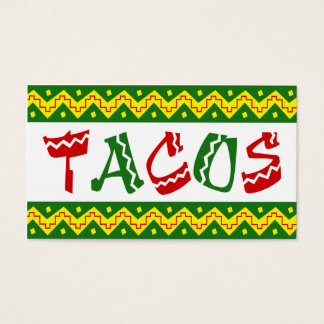 arriba tacos (loyalty punch card) business card
