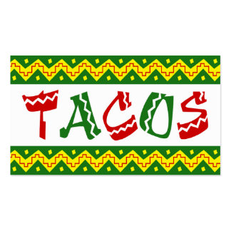 arriba tacos (loyalty punch card) Double-Sided standard business cards (Pack of 100)