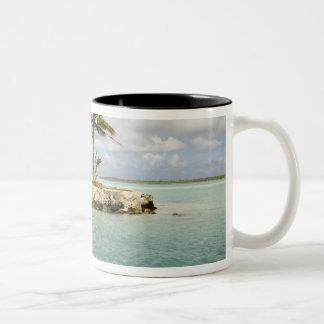 Arrival at airport in Bora Bora, Society Two-Tone Coffee Mug