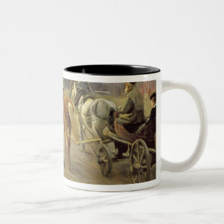 Arrival of a School-Mistress in the Country Mugs