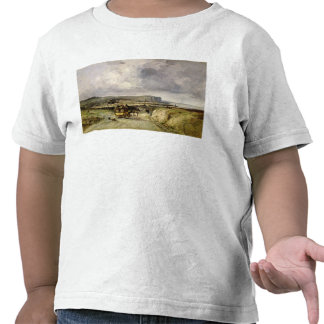 Arrival of a Stagecoach at Treport, 1878 Tshirts