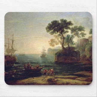 Arrival of Aeneas in Italy, the Dawn of the Mouse Pad