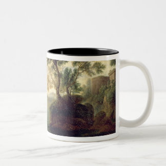Arrival of Aeneas in Italy, the Dawn of the Two-Tone Coffee Mug