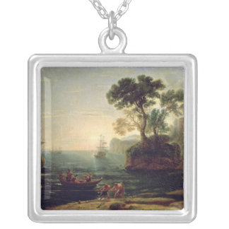 Arrival of Aeneas in Italy, the Dawn of the Silver Plated Necklace