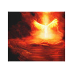 Arrival of an Angel Stretched Canvas Prints