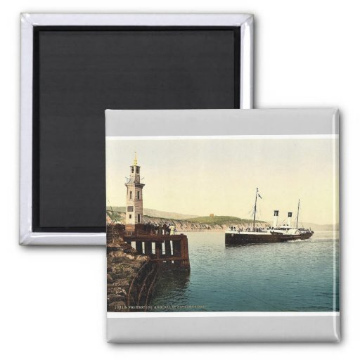 Arrival of Boulogne boat, Folkestone, England rare 2 Inch Square Magnet