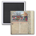 Arrival of Emperor Charles IV 2 Inch Square Magnet