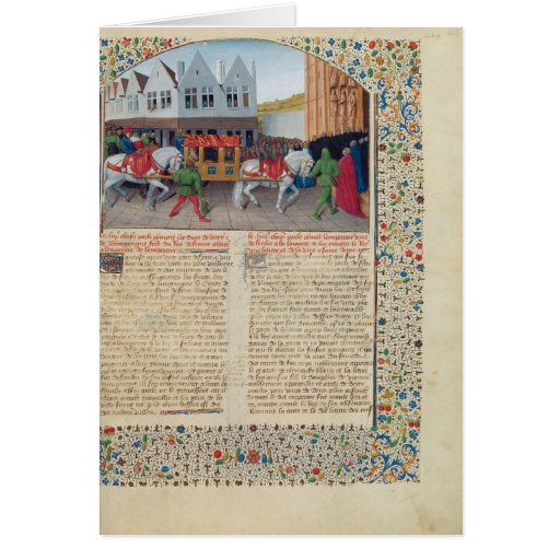 Arrival of Emperor Charles IV Card