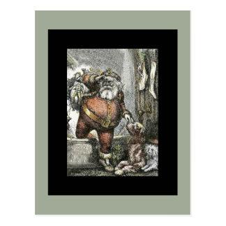 Arrival of Saint Nicholas Postcard