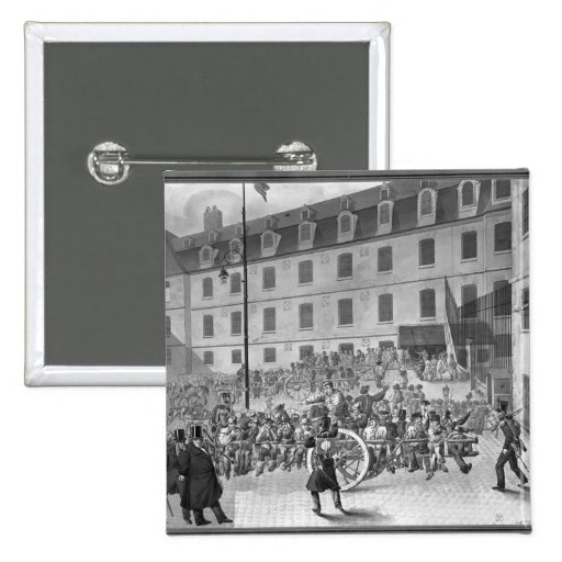 Arrival of the convicts at Bicetre Pinback Buttons