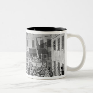 Arrival of the convicts at Bicetre Two-Tone Coffee Mug