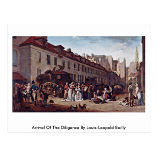 Arrival Of The Diligence By Louis-Leopold Boilly Post Card
