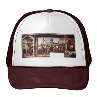 Arrival Of The English Ambassadors By Carpaccio Trucker Hat