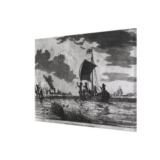 Arrival of the English at Roanoke Stretched Canvas Prints