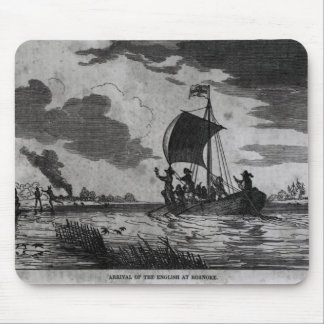 Arrival of the English at Roanoke Mouse Pad